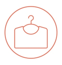 Sweater on hanger line icon vector image vector image