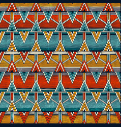 tribal seamless pattern colorful abstract vector image vector image