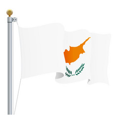 waving cyprus flag isolated on a white background vector image vector image