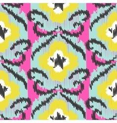 Ikat ogee seamless pattern vector