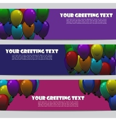 Holiday birthday banners vector
