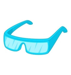 Protective glasses icon cartoon style vector