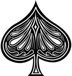 Floral spade vector image