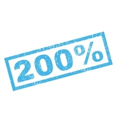 200 percent rubber stamp vector
