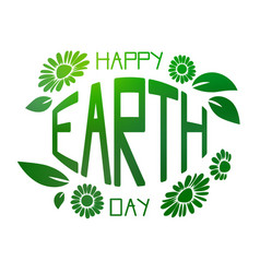 green earth day vector image