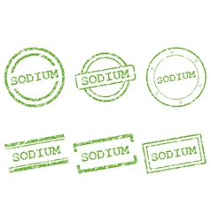 Sodium stamps vector