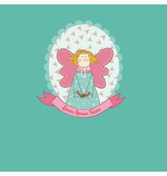 Doll theme Scrapbook Card vector image
