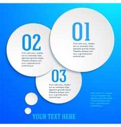 Blue page template presentation steps option vector