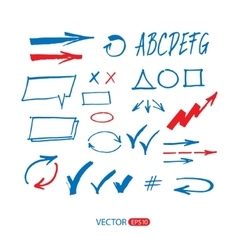 Sketch arrow set vector