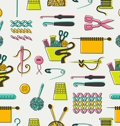 Sewing and needlework pattern vector