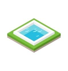 Water pool summer isometric fun concept 3d flat vector