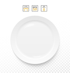Cutlery object realistic plate isolated items vector