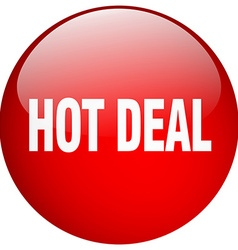 Hot deal red round gel isolated push button vector
