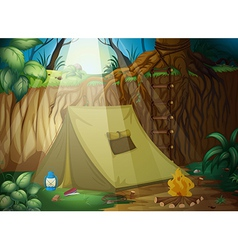 A camping tent vector image vector image