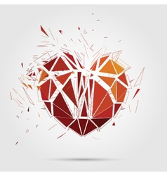 Abstract broken heart 3d vector