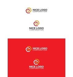 arrows logo red and yellow color vector image