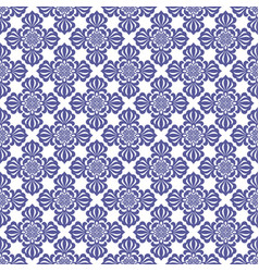 Blue abstract damask pattern backdrop vector