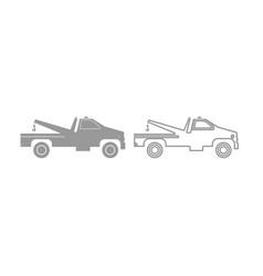 breakdown truck icon grey set vector image