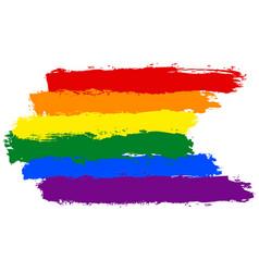 Brushstroke rainbow flag lgbt movement vector