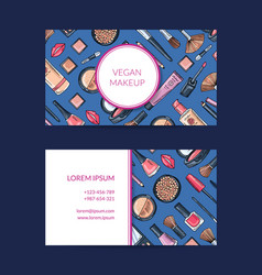 business card template for beauty brand vector image vector image
