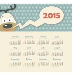 Calendar 2015 year with deer vector