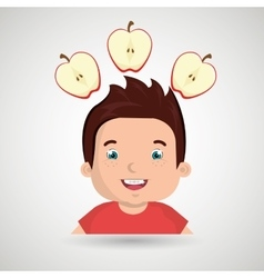 childhood fruits food healthy vector image