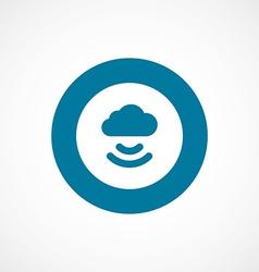Connect cloud bold blue border circle icon vector