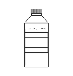 contour silhouette of bottle with liquid vector image vector image