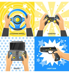 Game gadget 2x2 design concept vector