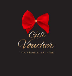 Gift voucher template for your vector