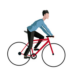 guy rider bike transport vector image
