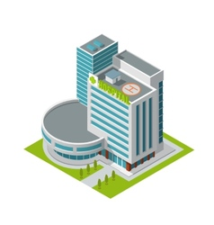 Hospital building isometric vector image vector image