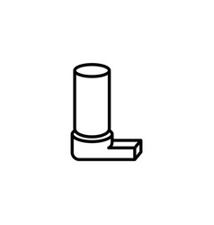 inhaler icon on white background vector image