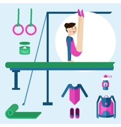 Items for gymnastics vector