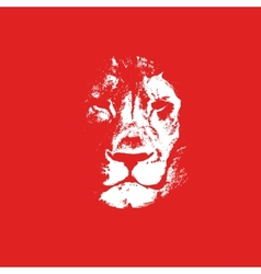 Lion head background Poster vector image vector image