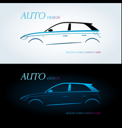 Logo for car on a white background vector