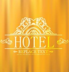 Logo template flourishes graphic thai design hotel vector
