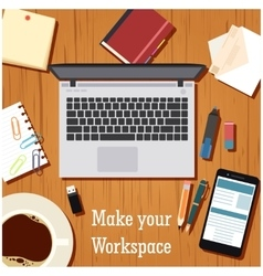 Make your workspace banner1 vector