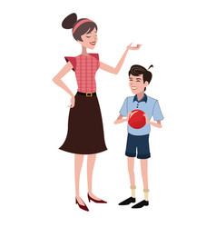 mother and son family member vector image vector image