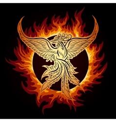 Phoenix in flame vector