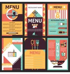 Restaurant menu designs vector image
