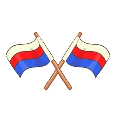 Russian national flags icon cartoon style vector image vector image