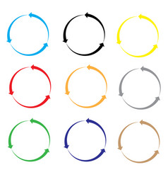 set of arrow color on white background set of vector image vector image