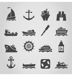 Ship an icon vector