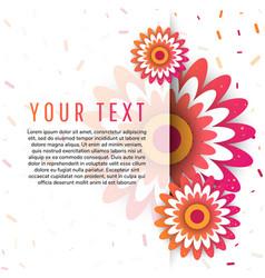 Spring card design vector