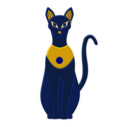 Statue cat egypt - goddess bastet egyptian idols vector