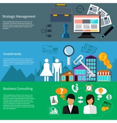 Strategic management investments and business vector