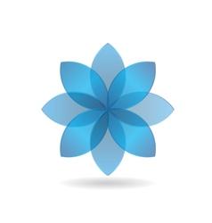 Stylish blue flower logo vector
