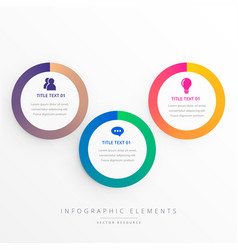 stylish three colorful circles infograph vector image