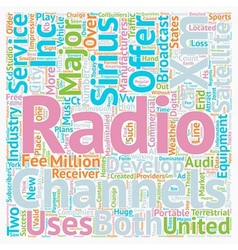 The development of satellite radio in the united vector